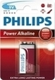 Bateria Philips Power Alkaline 6LR61 (9V) blister B1